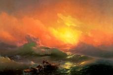 """Картина Айвазовского """"Девятый вал""""."""