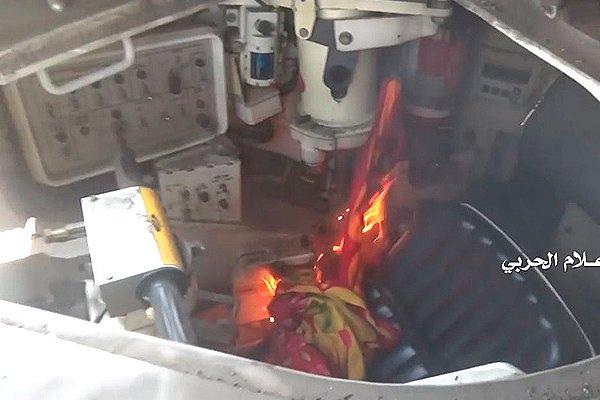 Поджёг танка «Абрамс» йеменскими повстанцами