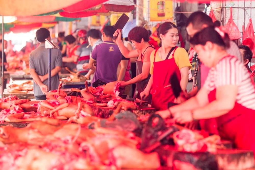 Продается мясо собаки пна ежегодном мероприятии Юйлинь