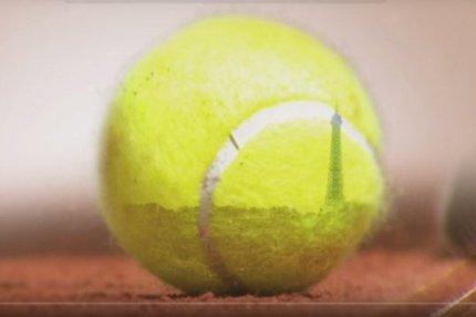 Теннисный мяч.