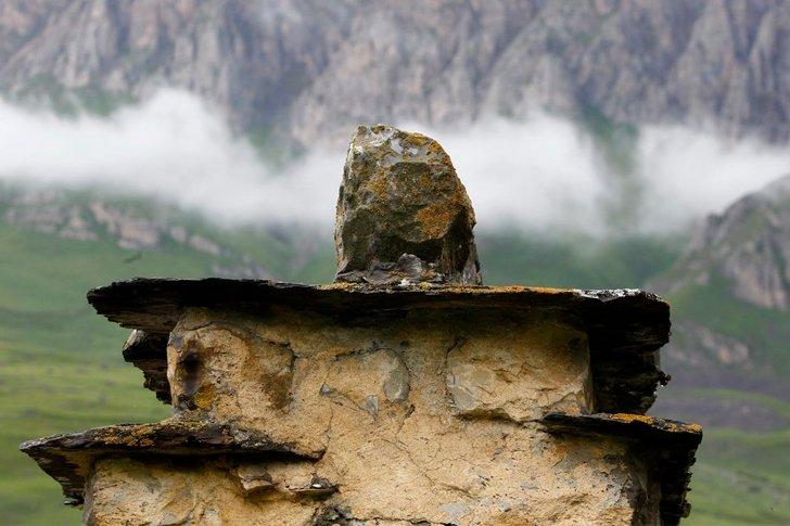 «Город мёртвых» в Даргавсе - крыша склепа