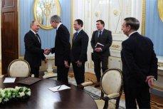 Встреча Владимира Путина с президентом группы компаний Louis Vuitton Moët Hennessy Бернаром Арно.