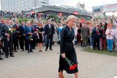 В Минске послы стран ЕС возложили цветы на месте гибели митингующего