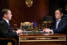 Дмитрий Медведев и Пётр Фрадков, Горки, Москва, 1 ноября 2016.