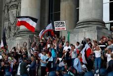 В Берлине протестующие штурмовали Рейхстаг