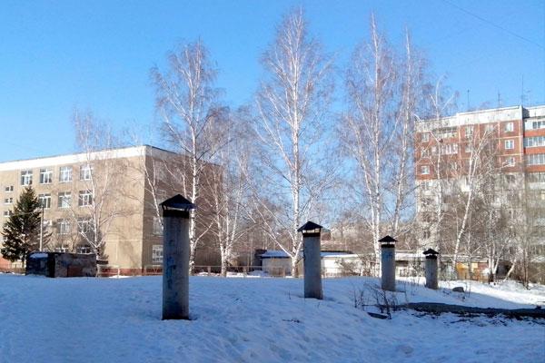 Вентиляционные трубы погребов в Барнауле.
