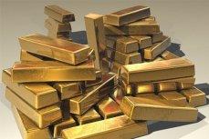 Слитки золота.