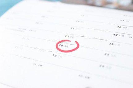 Лист календаря.