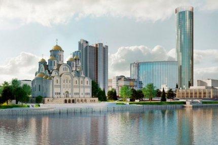 Проект строительства храма в сквере возле Театра Драмы и большого офисного центра