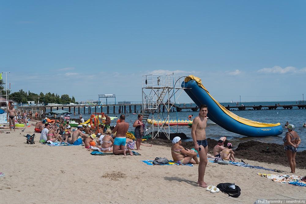 Центральный городской пляж в Евпатории