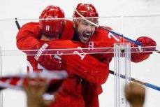 Российские хоккеисты после победы над сборной США в Пхенчхане