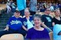 Линда Голдблум на стадионе «Дoджep-cтэдиум»