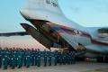 Спецборт МЧС России доставил в аэропорт тела членов экипажа самолета Ил-76 МЧС России.