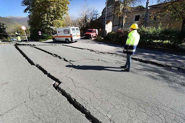 Вцентральной Италии случилось землетрясение