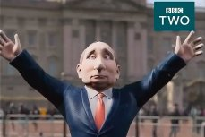 Анимированный Владимир Путин в шоу ВВС «Вечер с Владимиром Путиным»