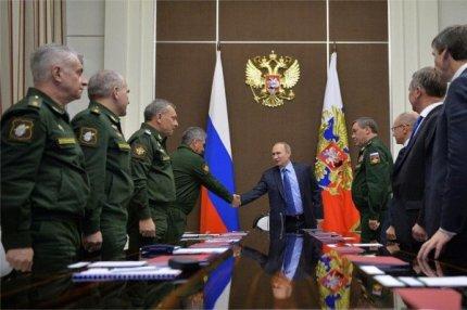 Совещание Владимира Путина с руководством Министерства обороны, Сочи, 18 ноября 2016.