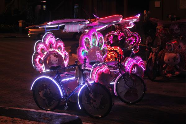 Велотакси в Малакке. Малайзия.