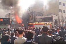 Сильнейший пожар на главном жд вокзале Каира