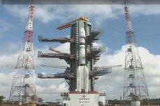Запуск индийской ракеты GSLV D6.