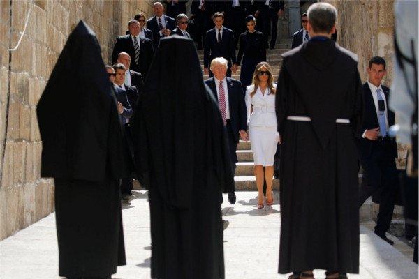 Супруги Трамп в Старом городе Иерусалима