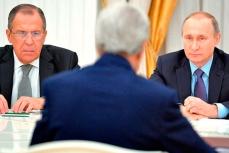 Встреча Путина, Лаврова, Керри.