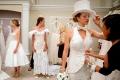 Конкурс платьев из туалетной бумаги.