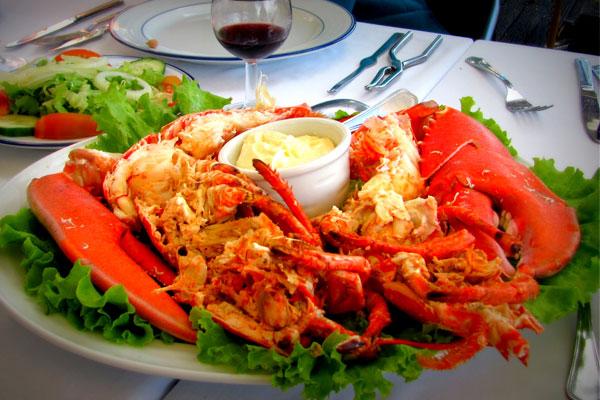 Португальское блюдо из морепродуктов.