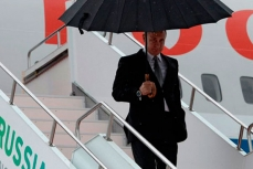 Президент РФ Владимир Путин прилетел в Уфу для участия в саммитах БРИКС и ШОС