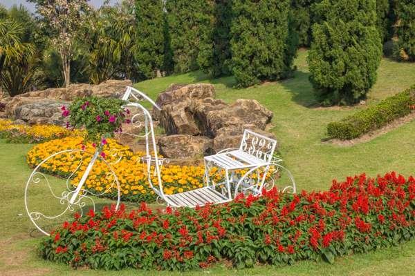 Ландшафтный дизайн в Парке Цветов.
