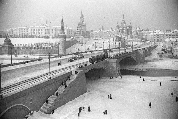 Новый Большой Москворецкий мост 1939-1941 год