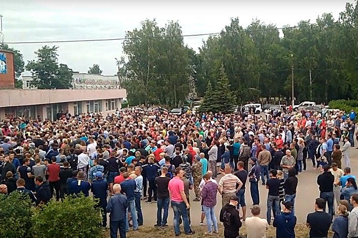Сход в селе Чемодановка