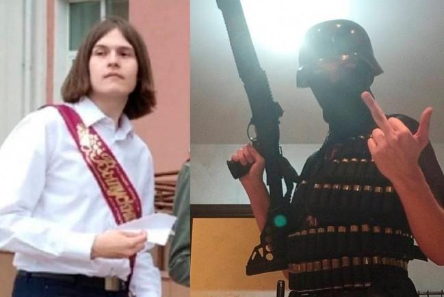 Подозреваемый в стрельбе в пермском университетеТимур Бекмансуров, на школьном выпускном и с оружием в руках