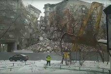 Обрушение седьмого подъезда взорванного дома в Магнитогорске