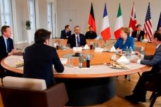 Лидеры стран на конференции в Германии.
