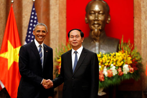 Президент США Барак Обама и Президент Вьетнама Чан Дай Куанг.