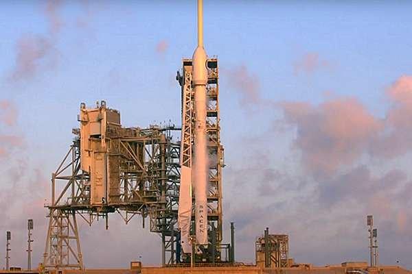 Стартовая площадка ракеты компании SpaceX.
