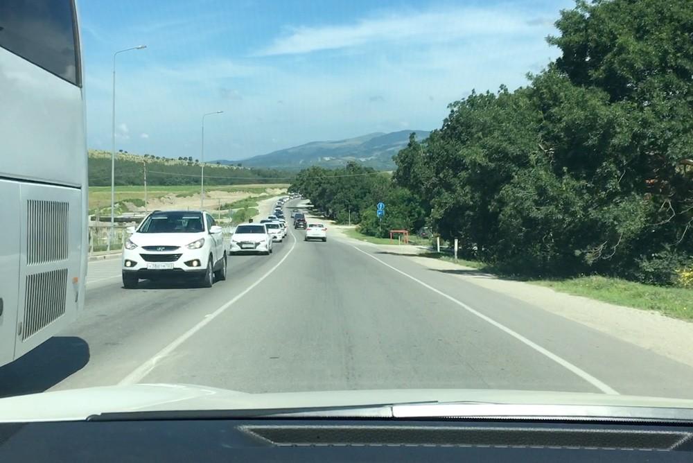 Пробки на дорогах в Геленджике