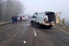 «Газель» столкнулась КамАЗом в Выселковском районе Краснодарского края