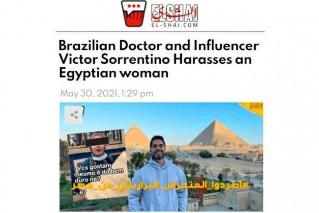 Бразильского врача-блогера арестовали в Египте за шутку над продавщицей