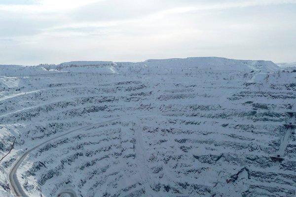 Сибайский карьер зимой