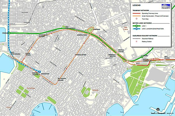 Проект расширение трамвайного пути до Пирея в Афинах