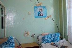 Большая трещина в больничной палате Кимр