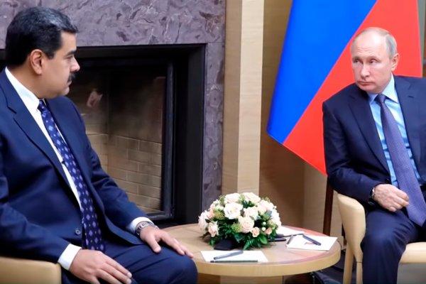 Николас Мадуро на встрече с Владимиром Путиным