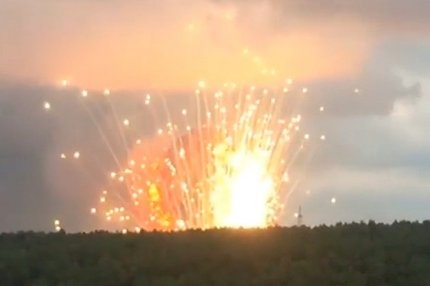 Взрывы на складе боеприпасов под Ачинском