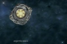 Логотип космического государства Асгардия.