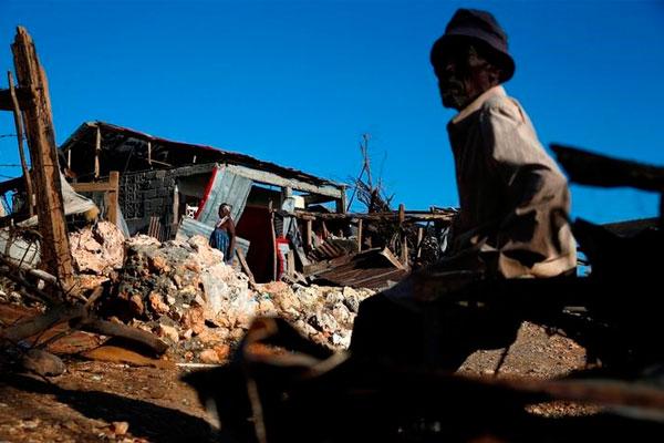 Последствия урагана Мэтью, г. Джереми, Гаити, 12 октября 2016