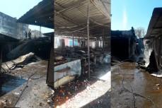 Последствия пожара на рынке в Геленджике
