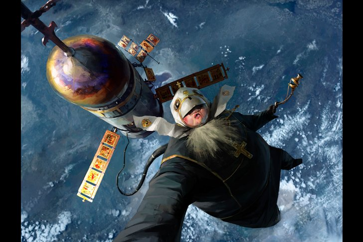 Батюшка в открытом космосе