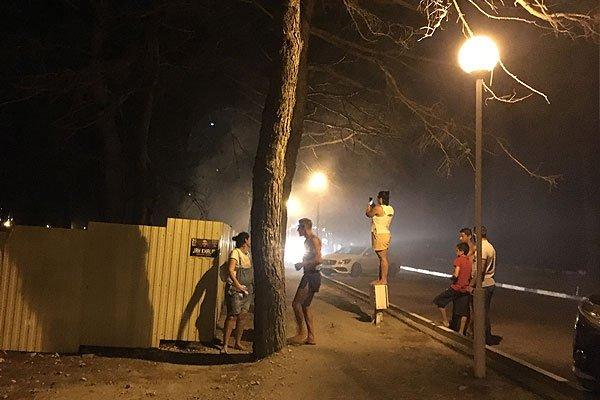 Возгорание на набережной в Геленджике
