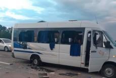 Нацкорпус и «Азов» расстреляли автобус на трассе Киев-Харьков